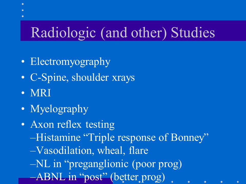 Radiologic (and other) Studies