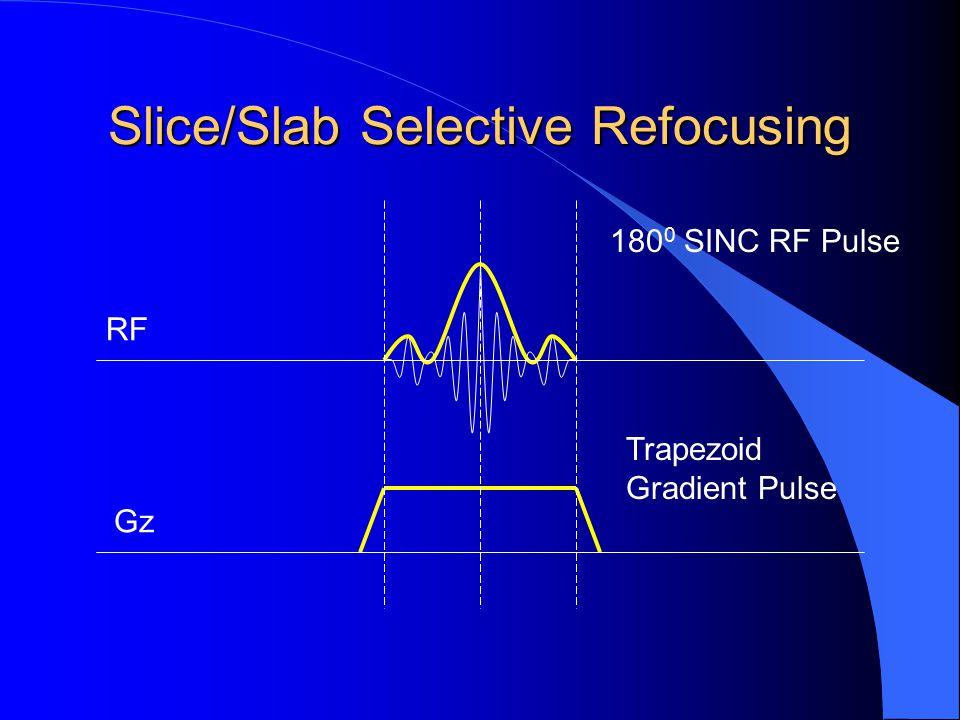 Slice/Slab Selective Refocusing