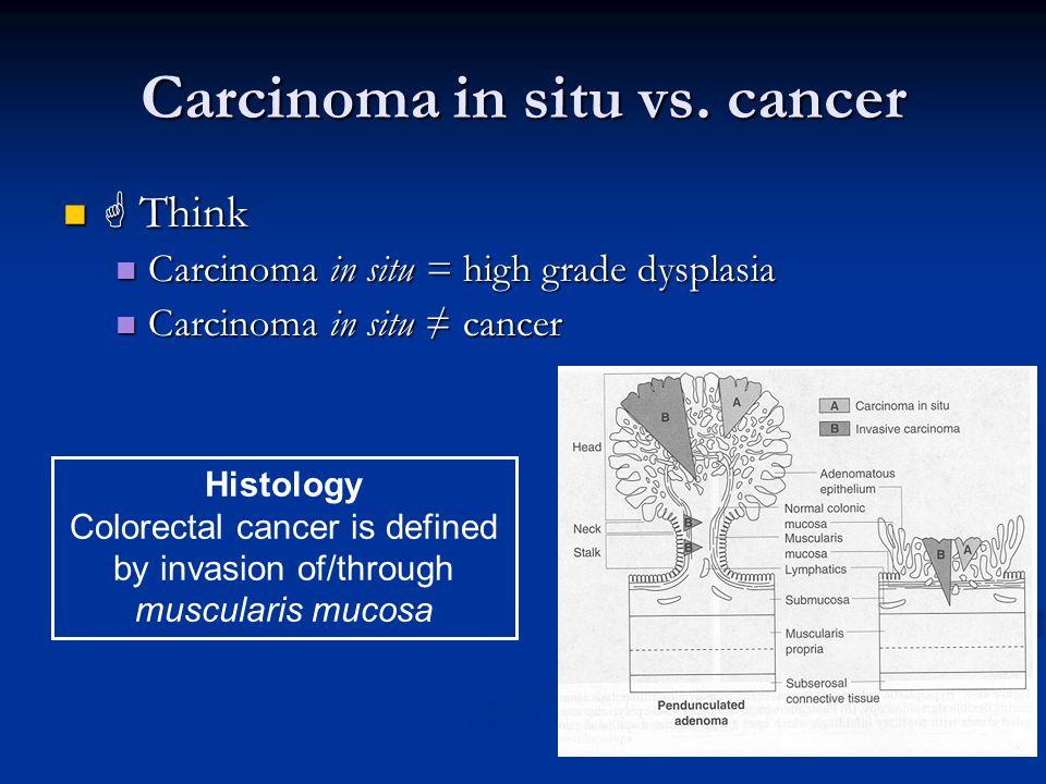 Carcinoma in situ vs. cancer