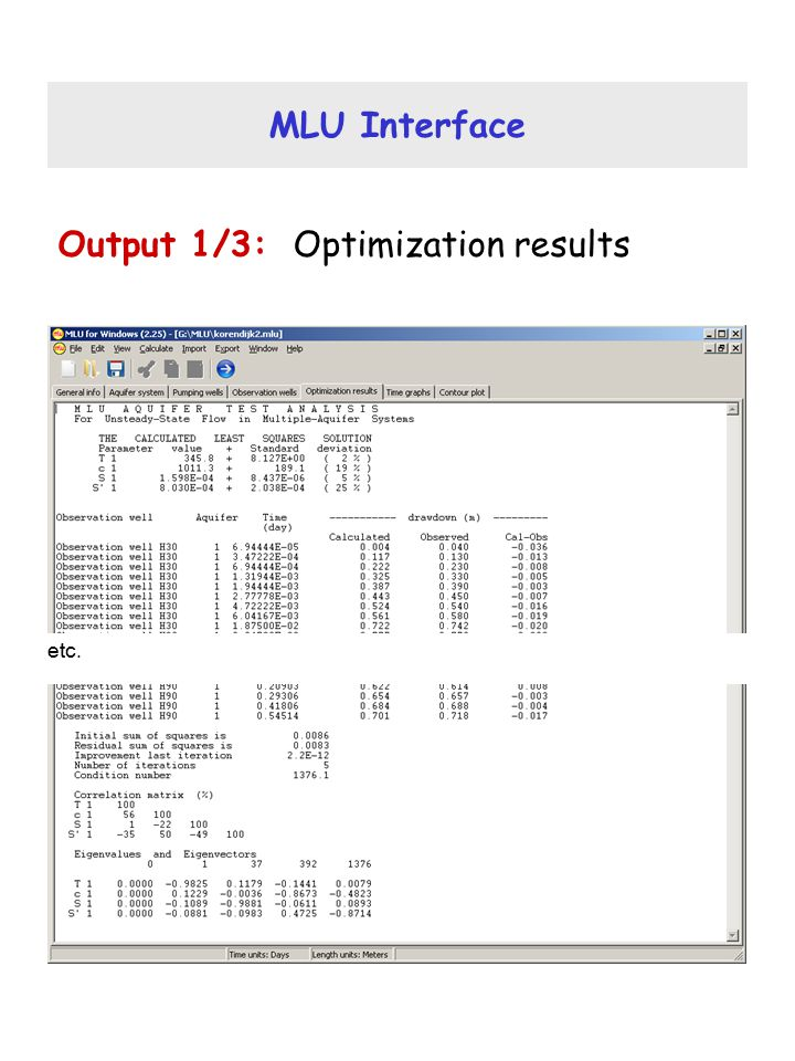 Output 1/3: Optimization results