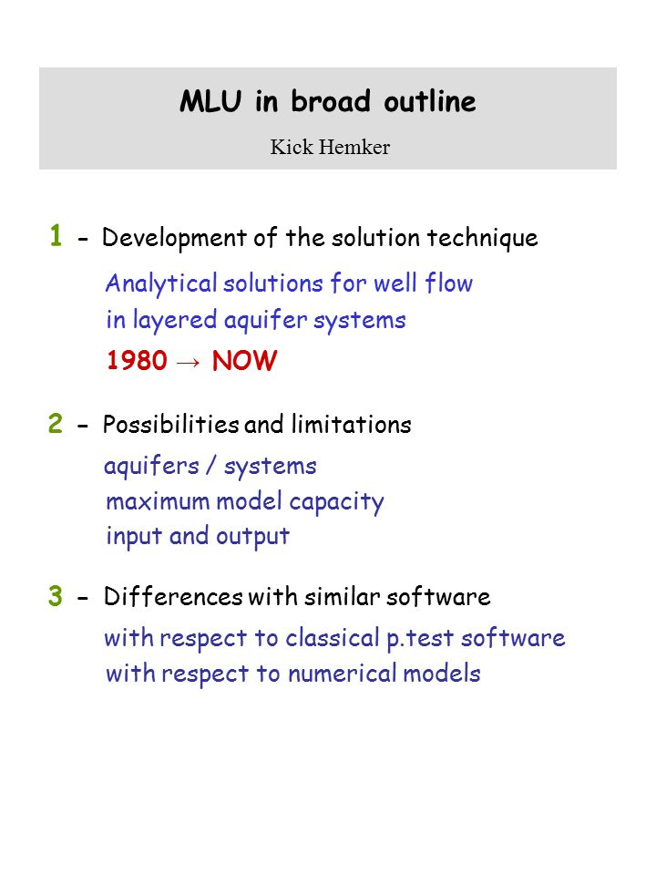 1 - Development of the solution technique