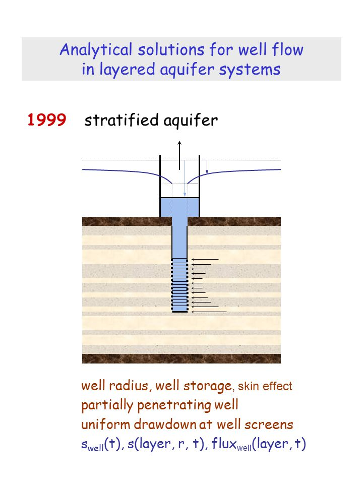 Analytical solutions for well flow in layered aquifer systems
