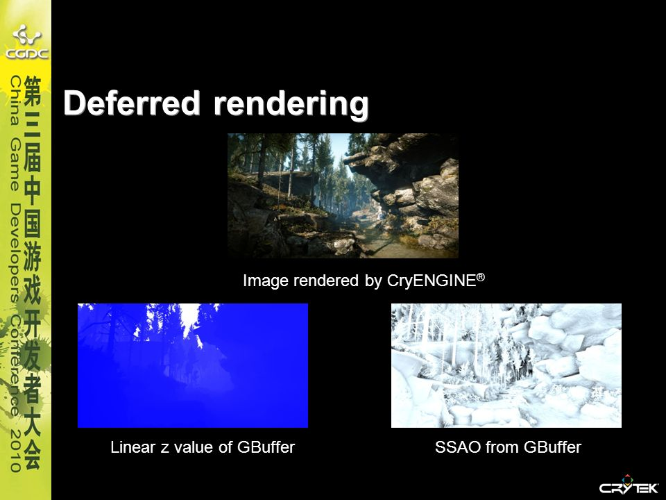 Deferred rendering Image rendered by CryENGINE®