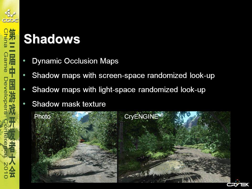 Shadows Dynamic Occlusion Maps