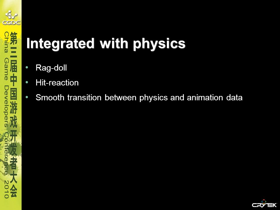 Integrated with physics
