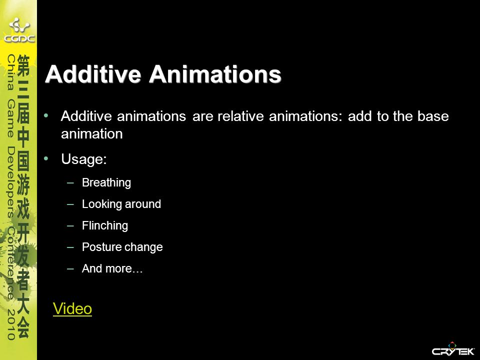 Additive Animations Video