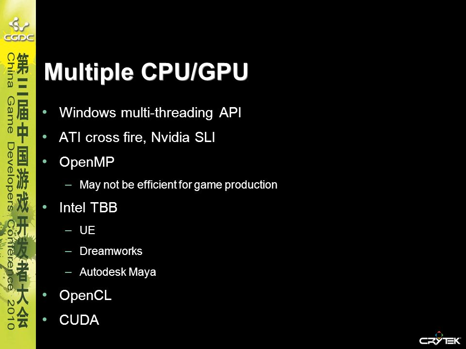 Multiple CPU/GPU Windows multi-threading API