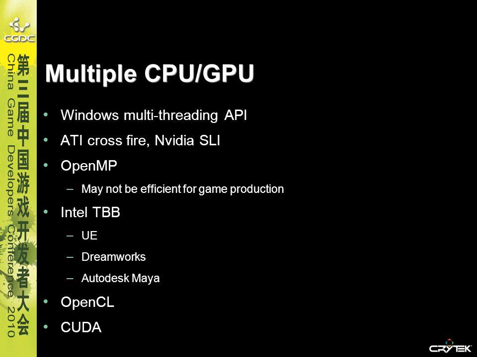 Multiple CPU/GPU Windows multi-threading API