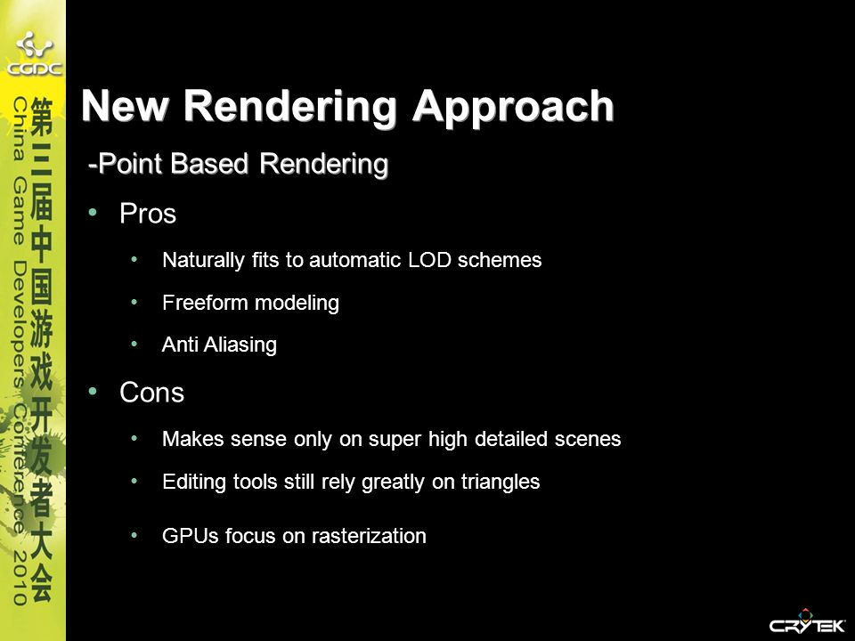 New Rendering Approach -Point Based Rendering