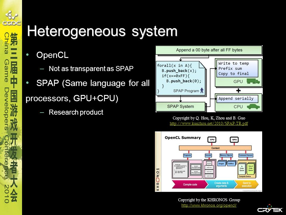 Heterogeneous system OpenCL SPAP (Same language for all