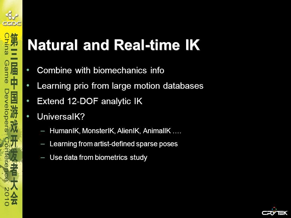 Natural and Real-time IK