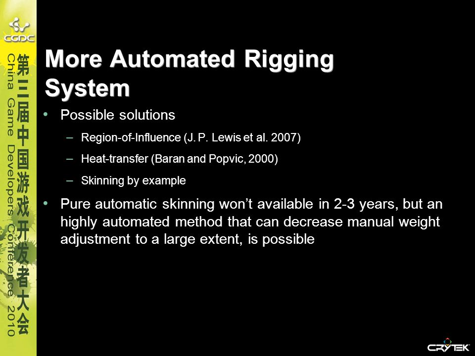More Automated Rigging System