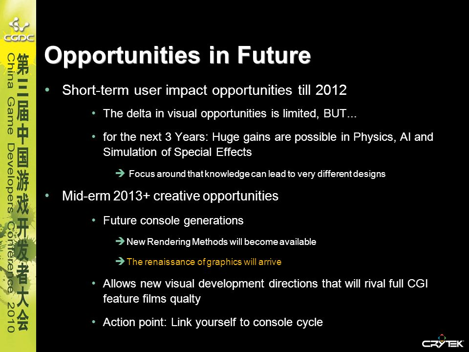 Opportunities in Future
