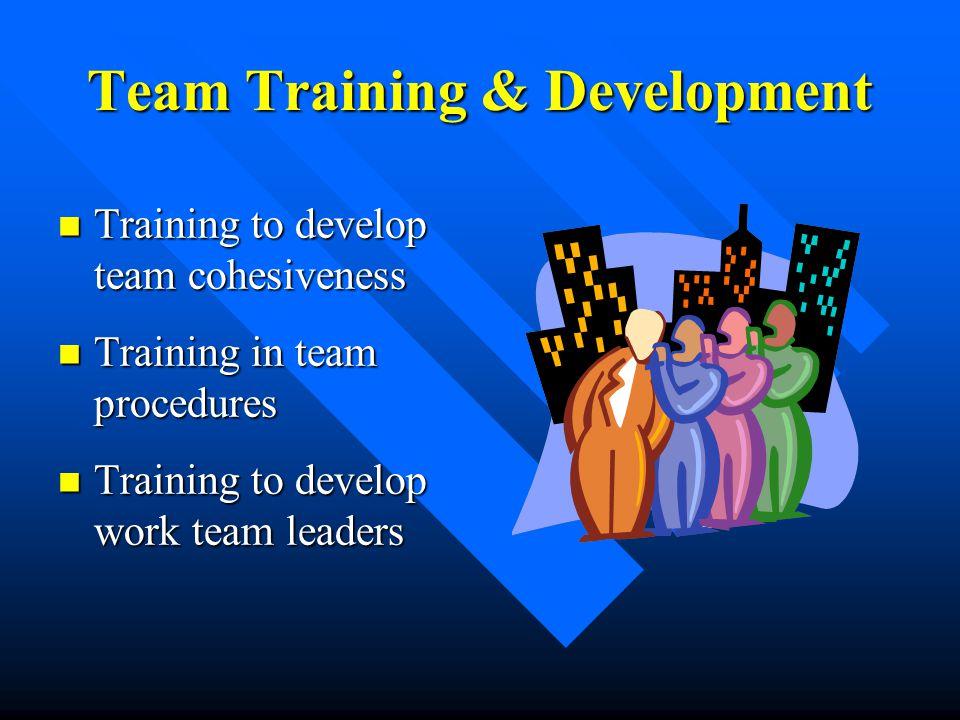 Team Training & Development