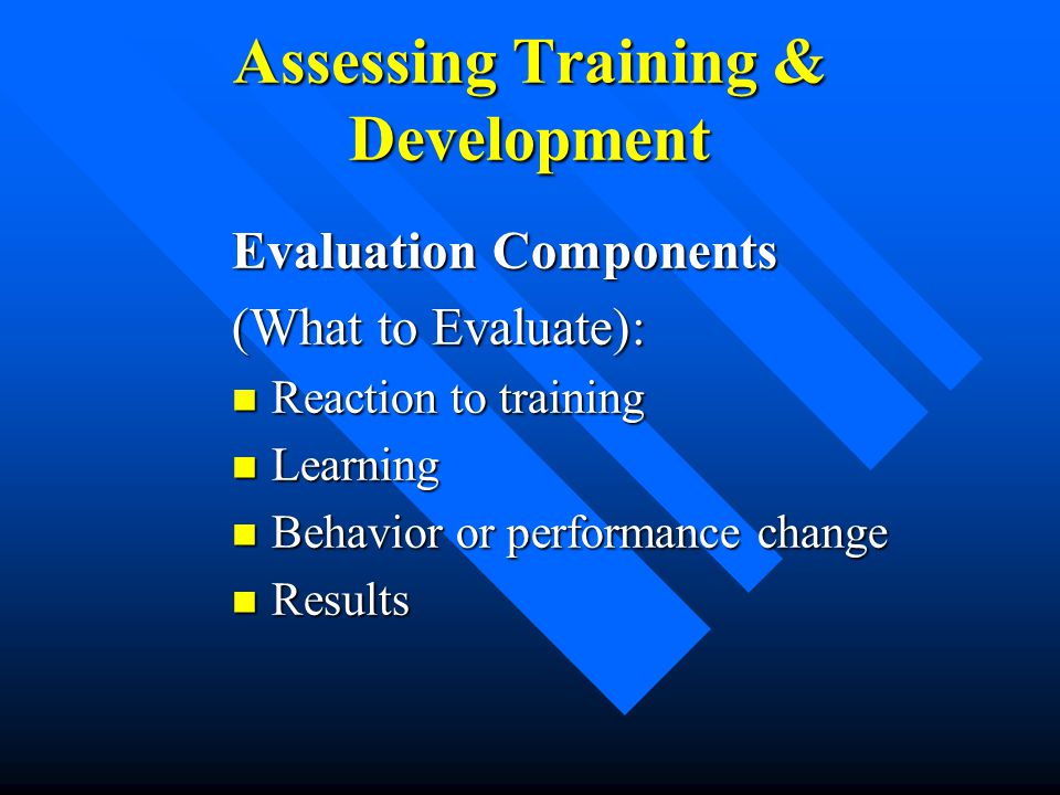 components of training and development pdf