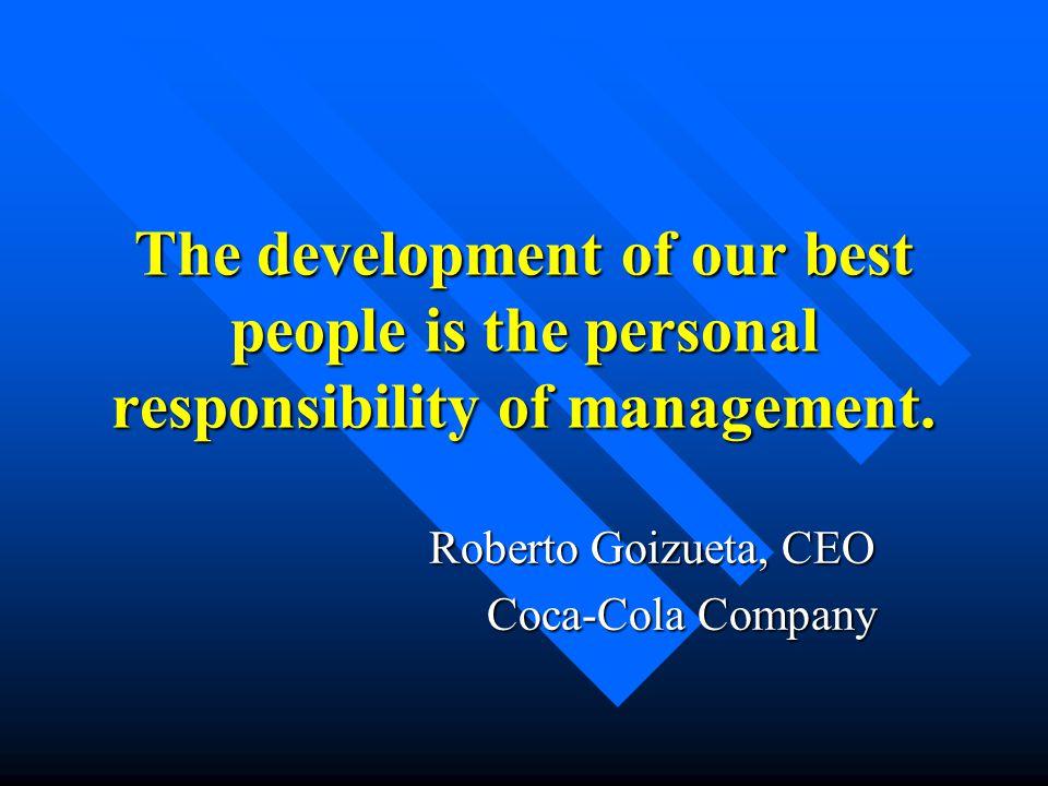 Roberto Goizueta, CEO Coca-Cola Company