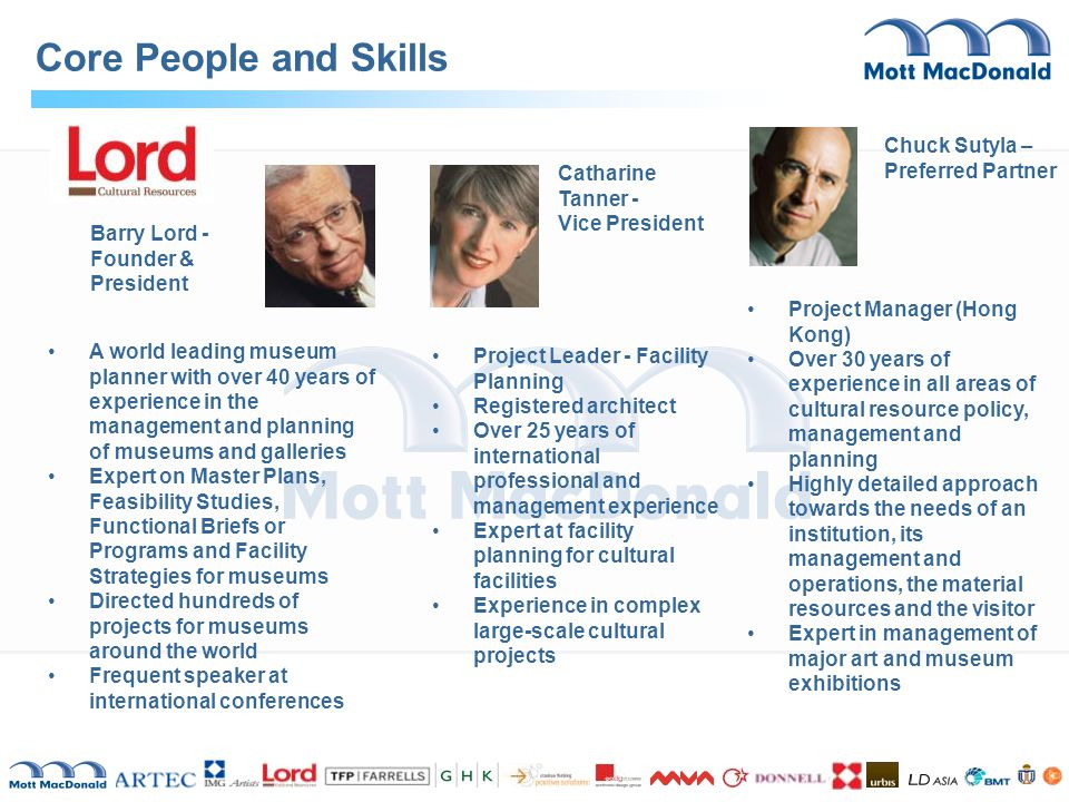 Core People and Skills Chuck Sutyla – Preferred Partner