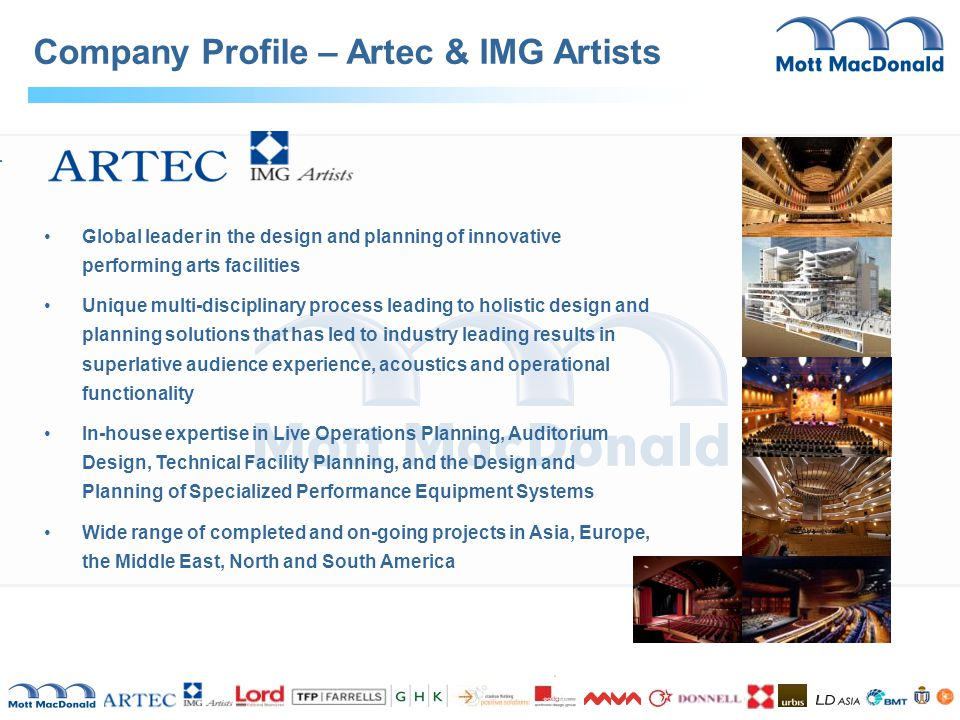 Company Profile – Artec & IMG Artists