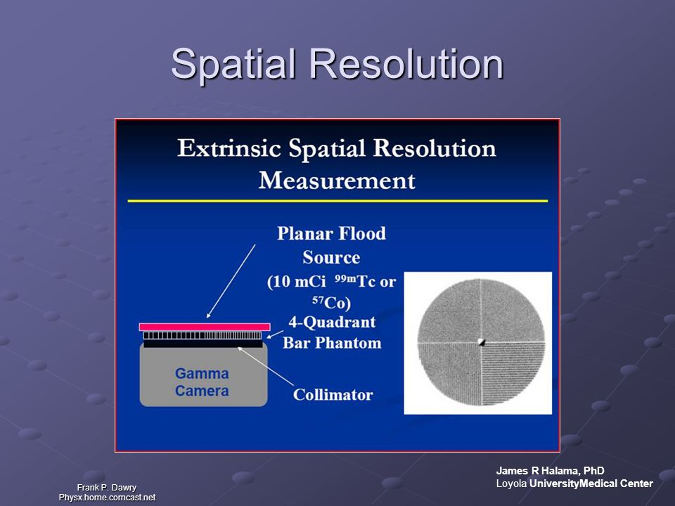 Spatial Resolution James R Halama, PhD Loyola UniversityMedical Center