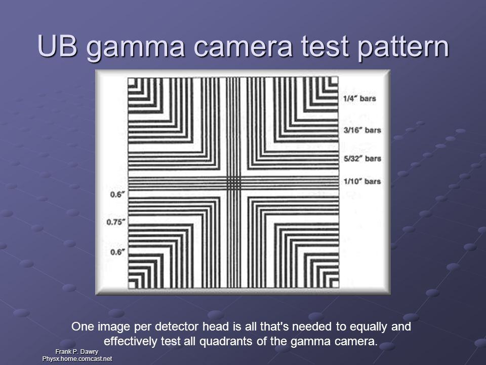 UB gamma camera test pattern
