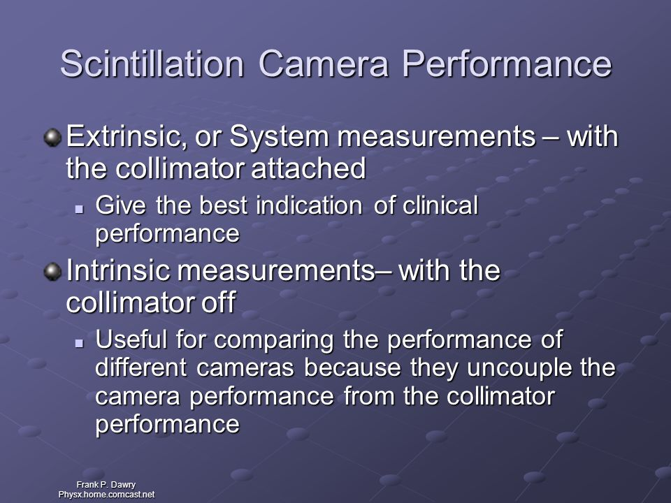 Scintillation Camera Performance