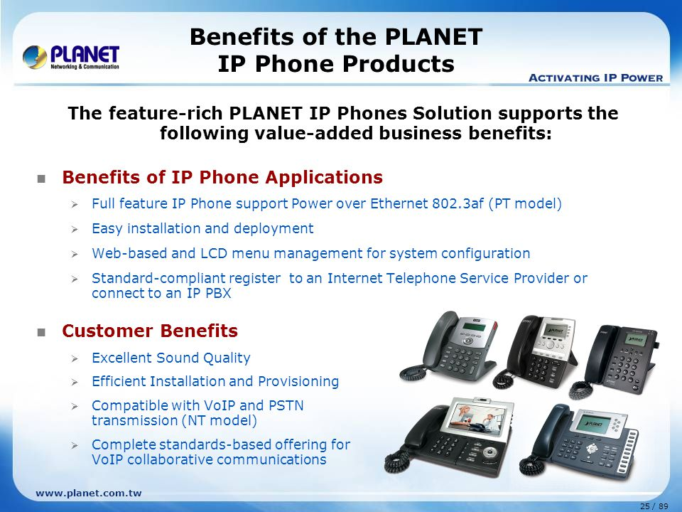 Benefits of the PLANET IP Phone Products
