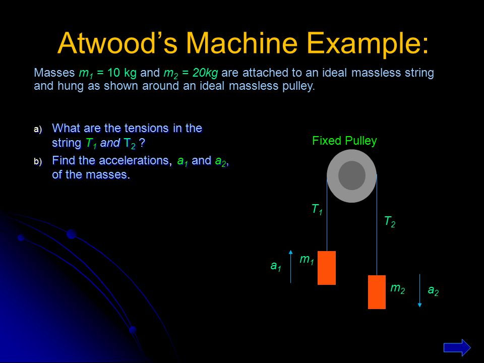 Atwood's Machine Example: