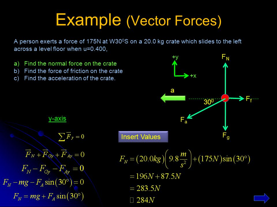 Example (Vector Forces)