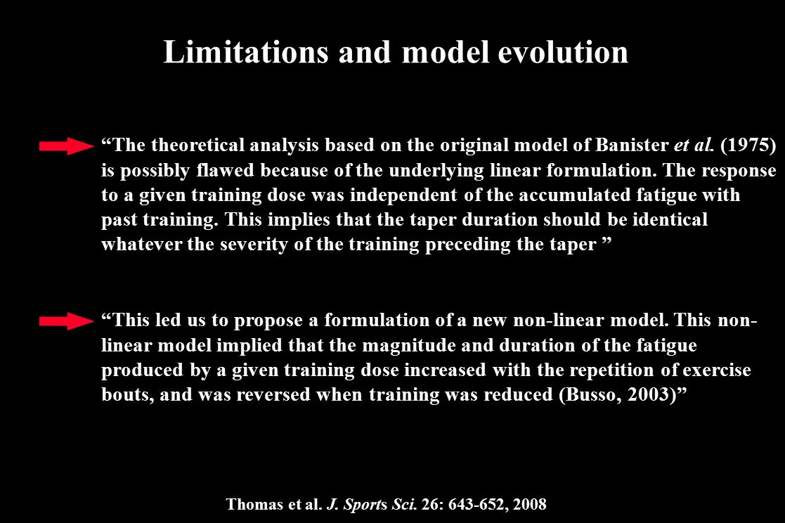 Limitations and model evolution