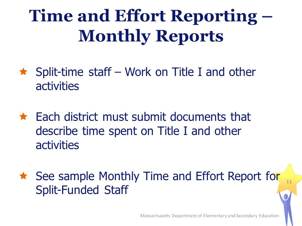 Time and Effort Reporting – Monthly Reports