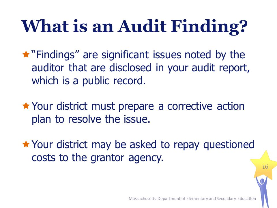 What is an Audit Finding