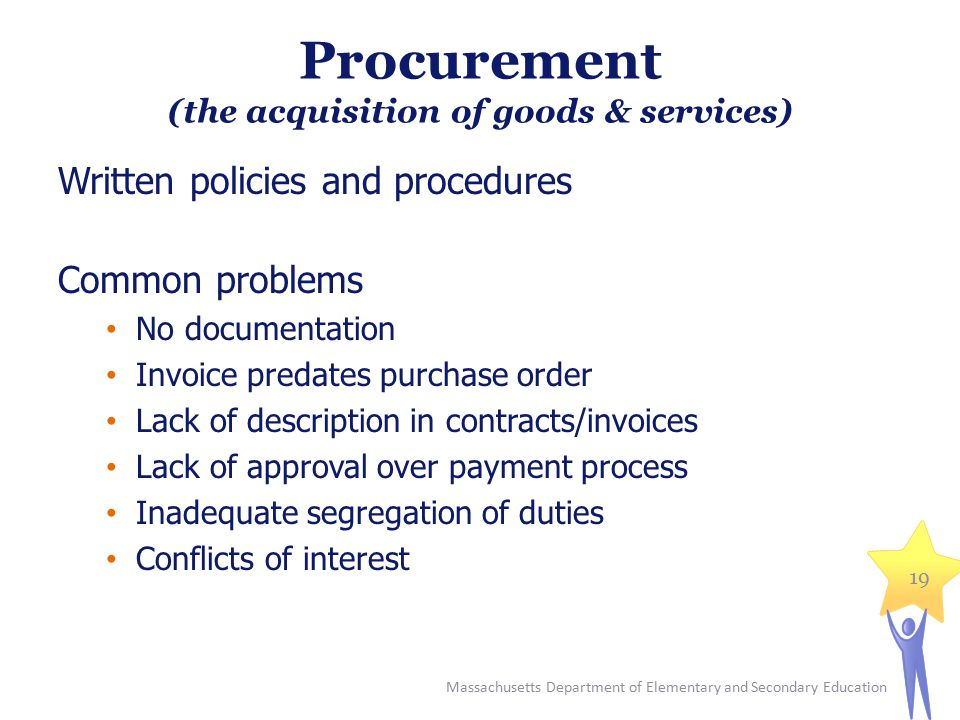 Procurement (the acquisition of goods & services)