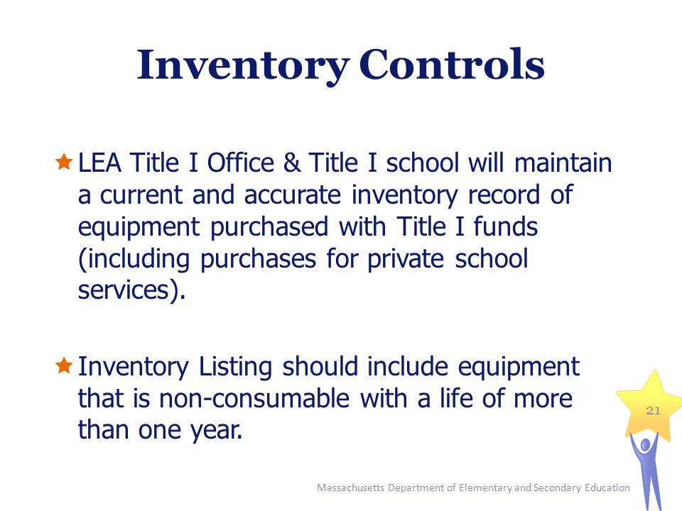 Inventory Controls