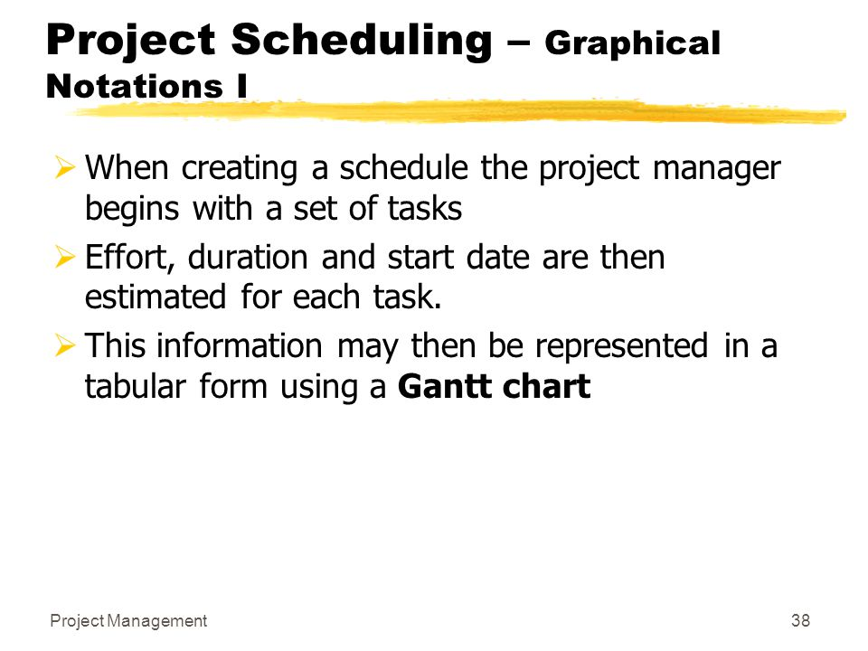 Project Scheduling – Graphical Notations I
