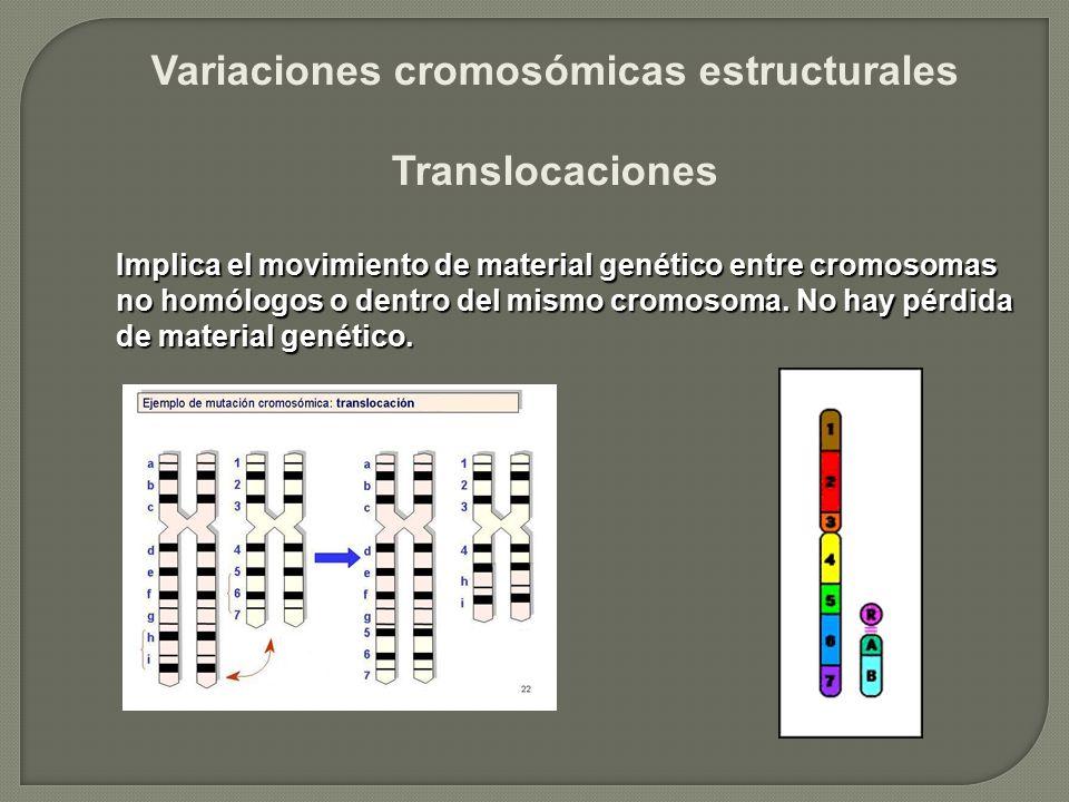 Variaciones cromosómicas estructurales