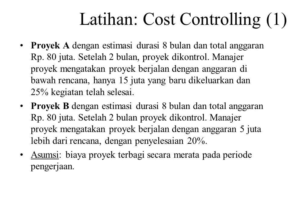 Latihan: Cost Controlling (1)