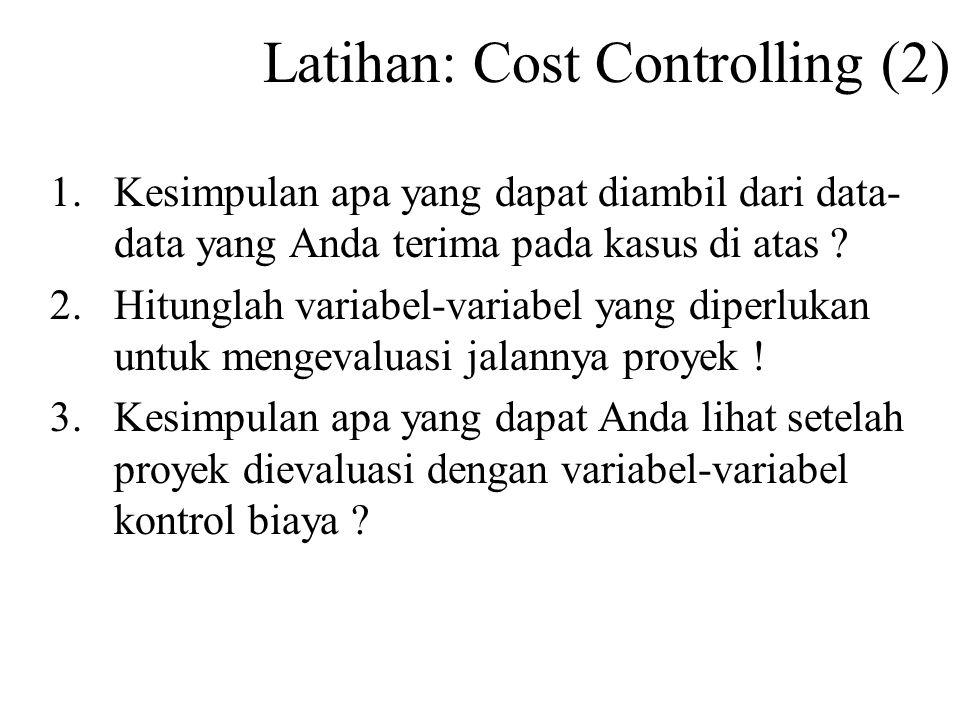 Latihan: Cost Controlling (2)