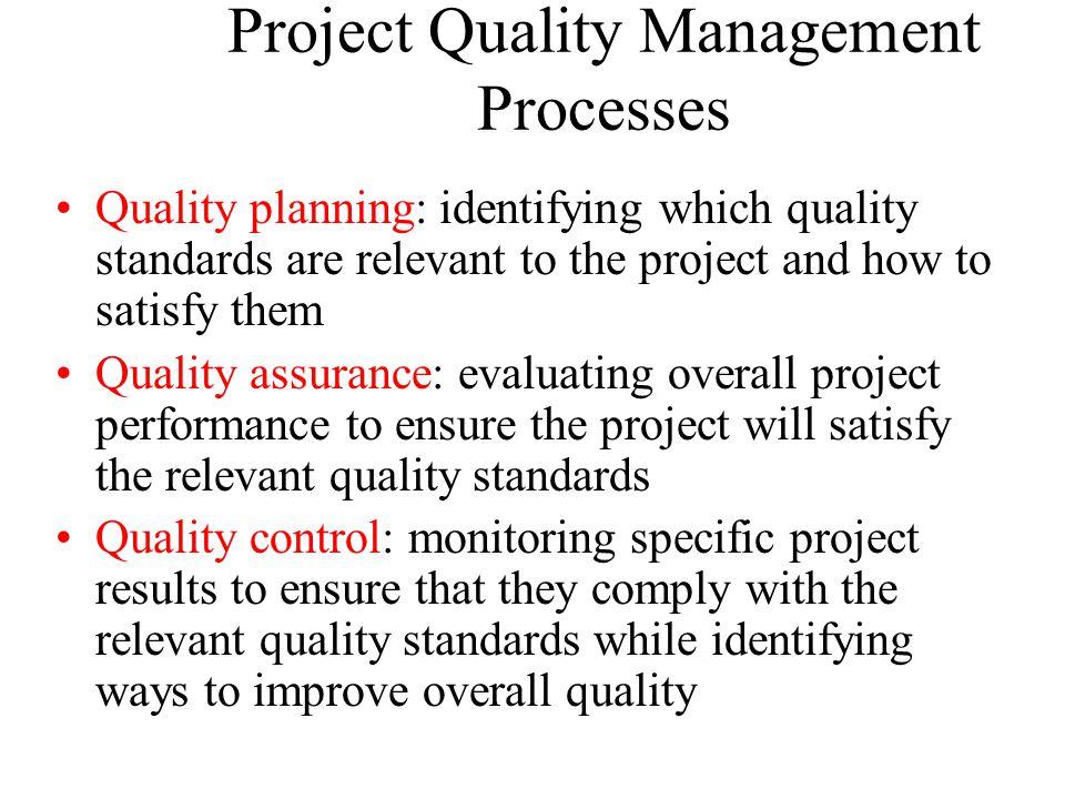 Project Quality Management Processes