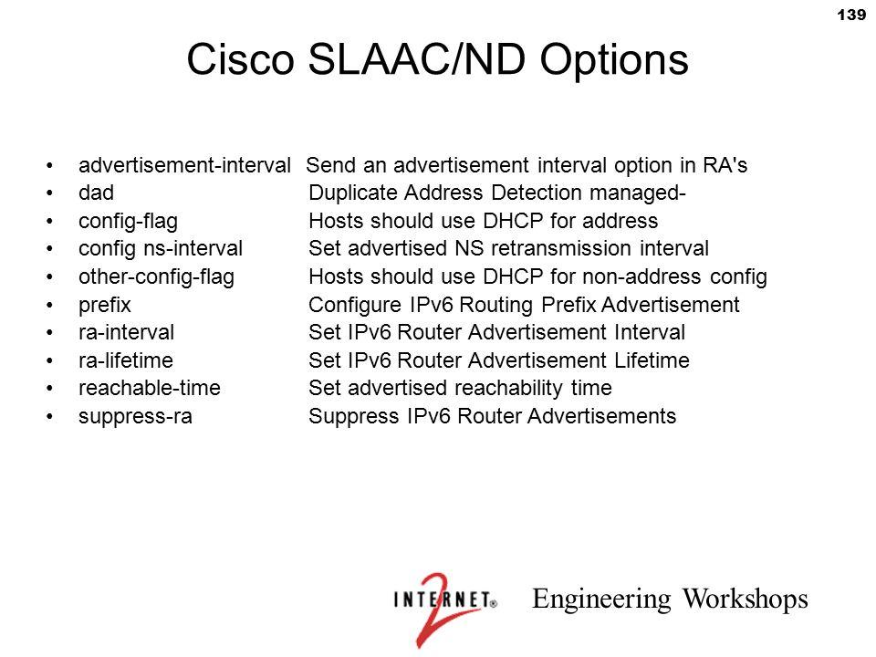 Cisco SLAAC/ND Options