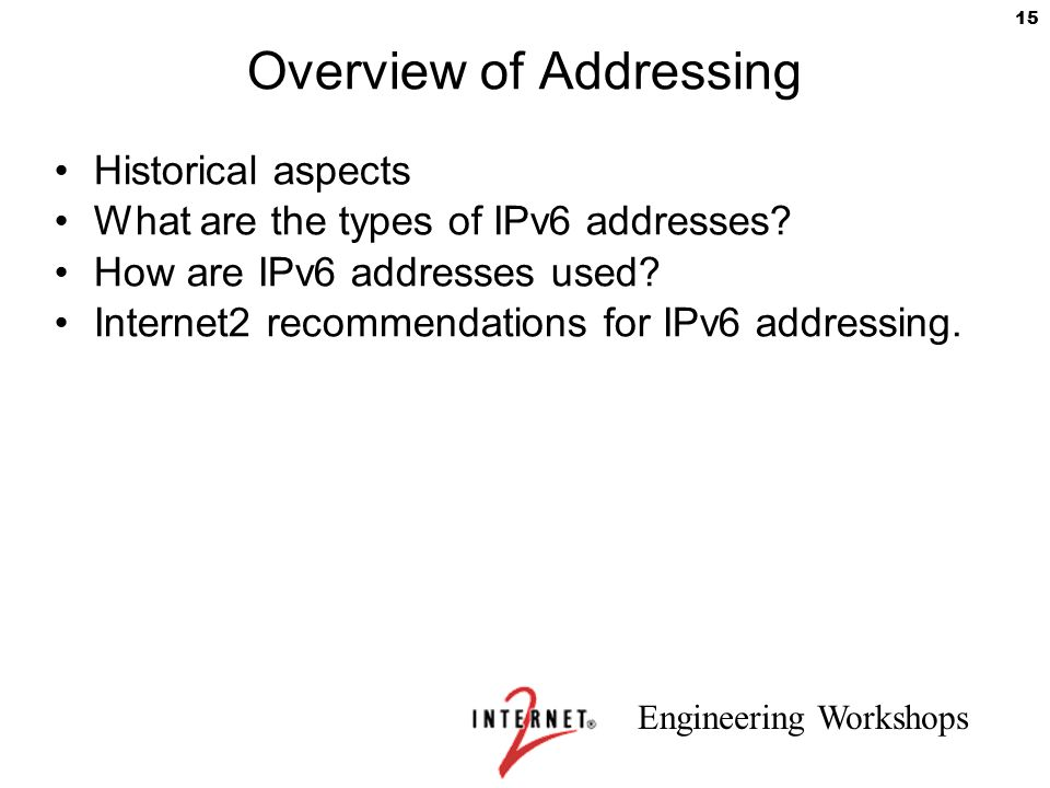 Overview of Addressing