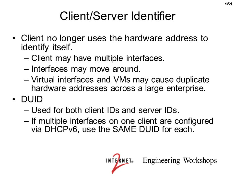 Client/Server Identifier