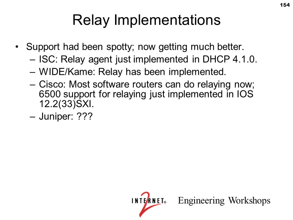 Relay Implementations