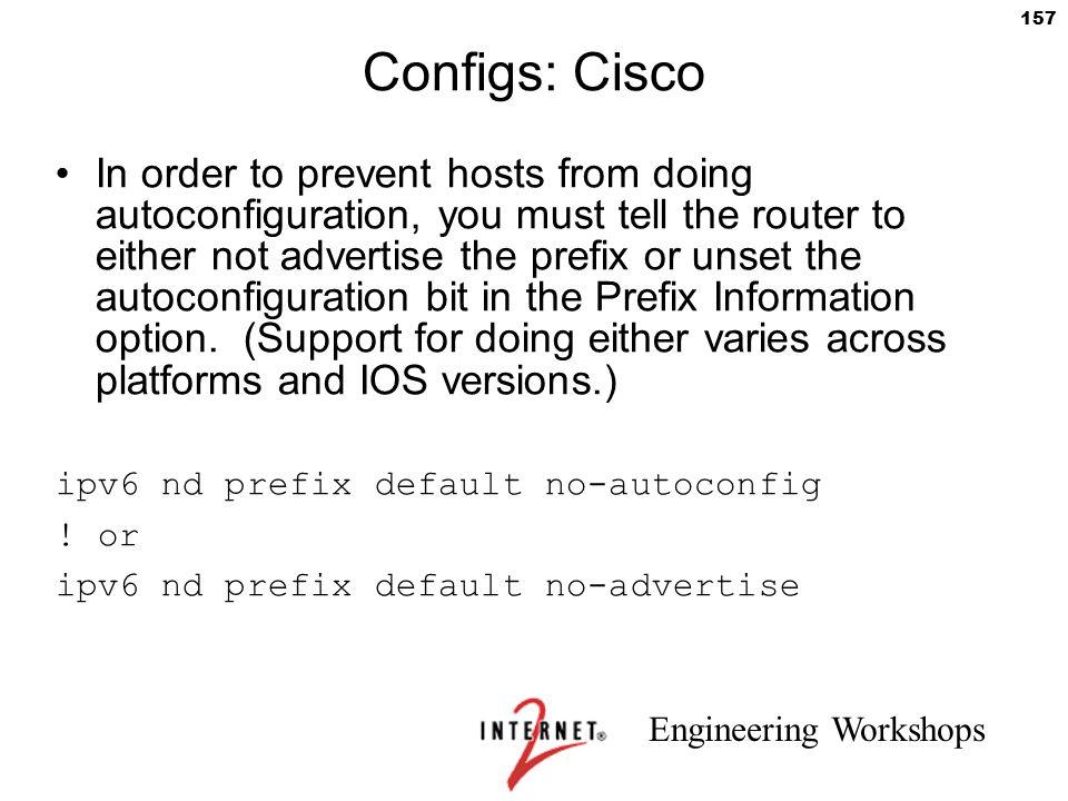 Configs: Cisco