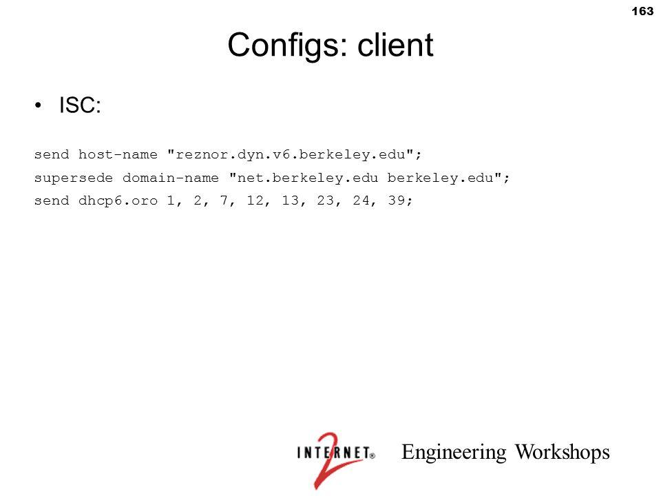 Configs: client ISC: send host-name reznor.dyn.v6.berkeley.edu ;