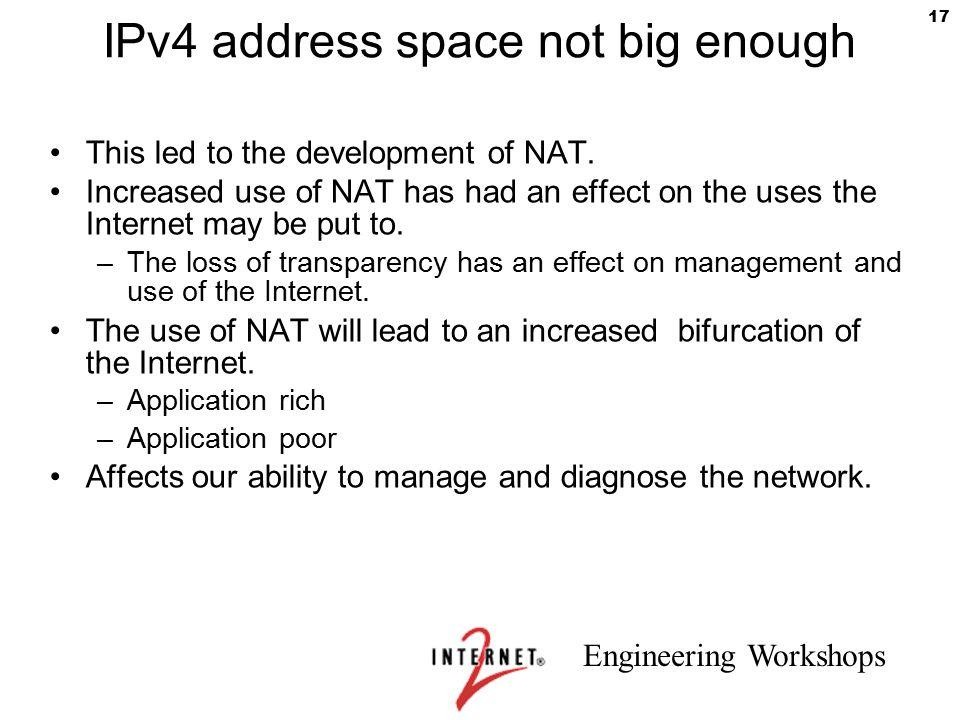 IPv4 address space not big enough