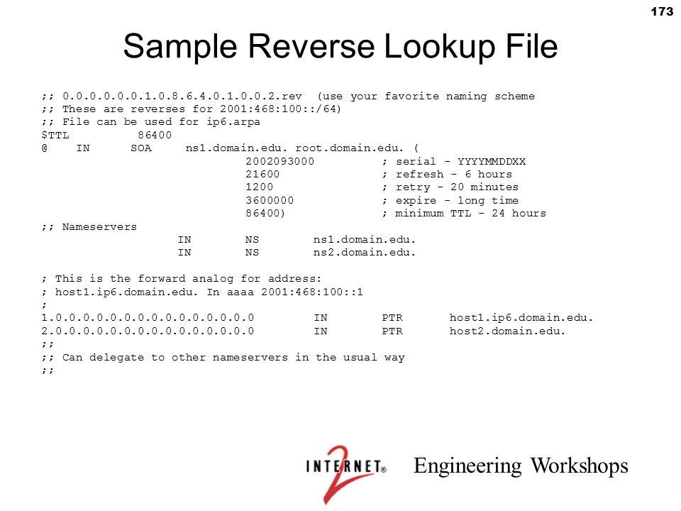 Sample Reverse Lookup File