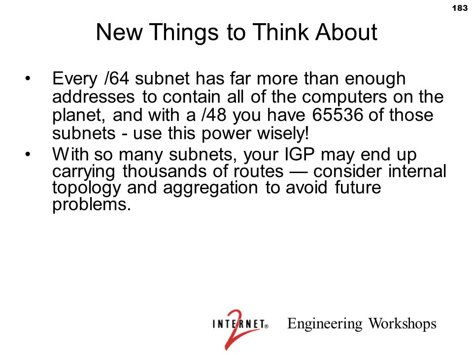 New Things to Think About