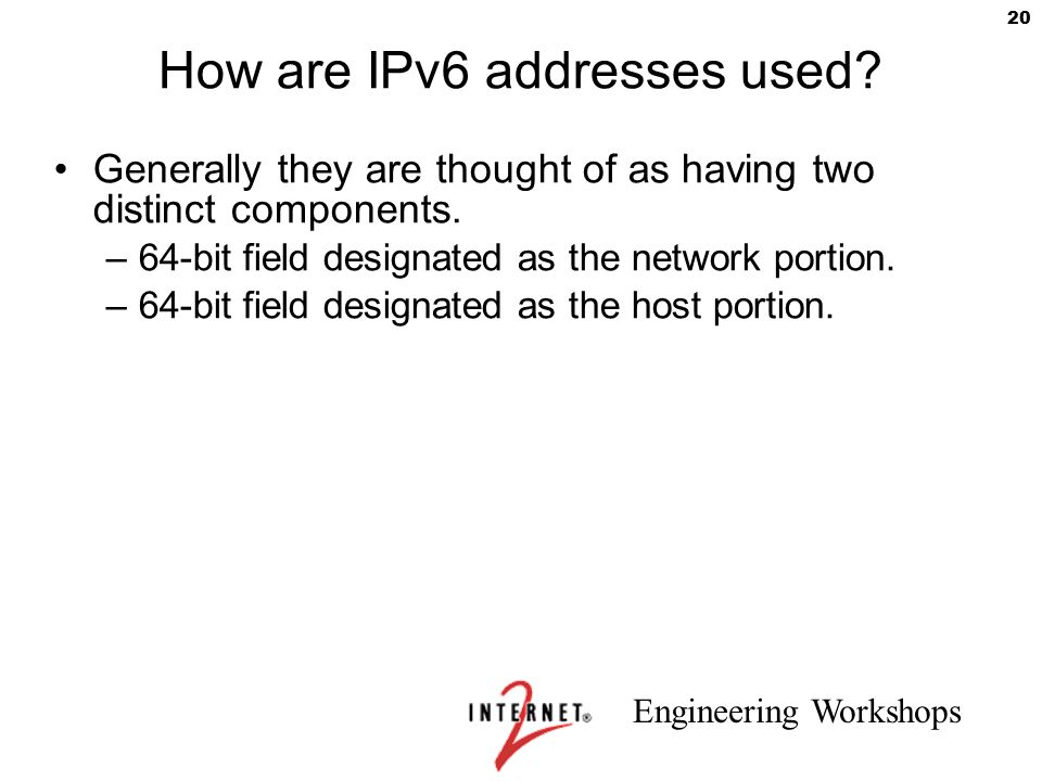 How are IPv6 addresses used