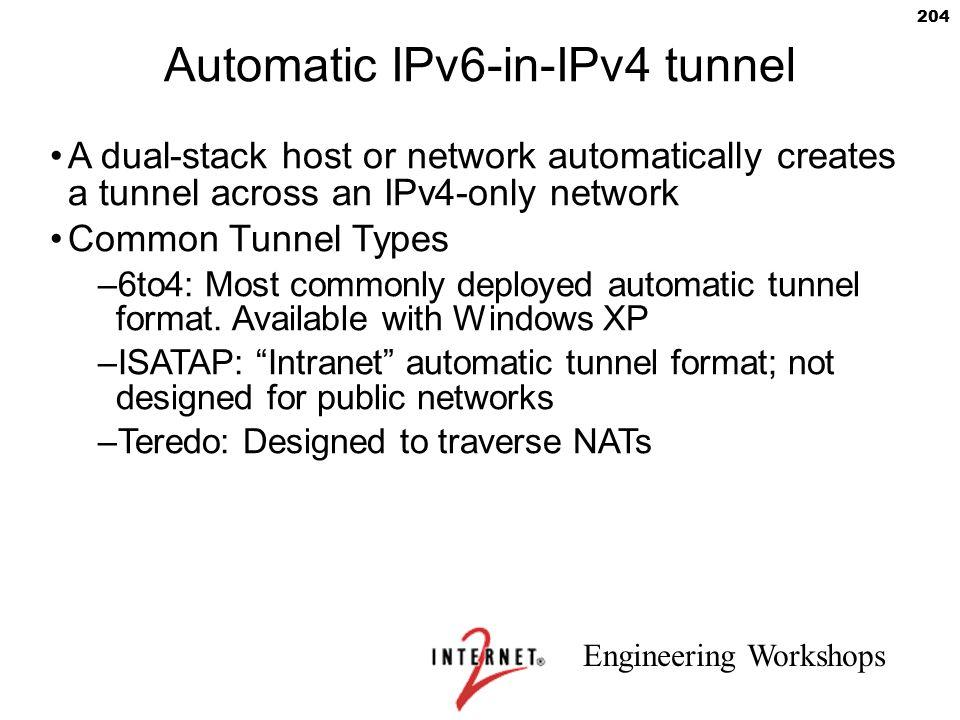 Automatic IPv6-in-IPv4 tunnel