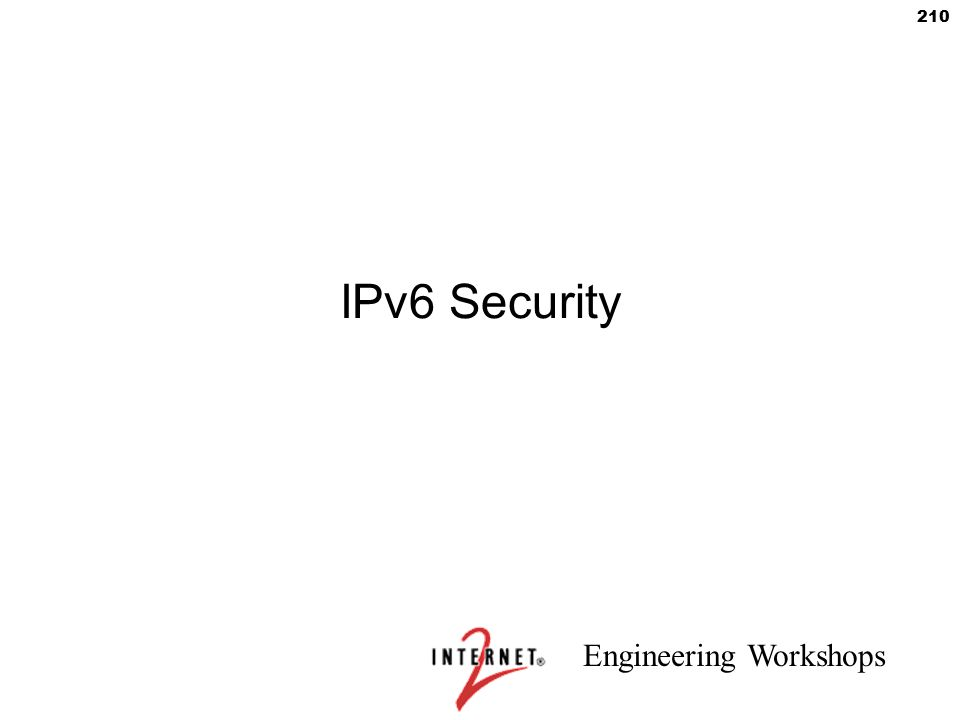 IPv6 Security 210